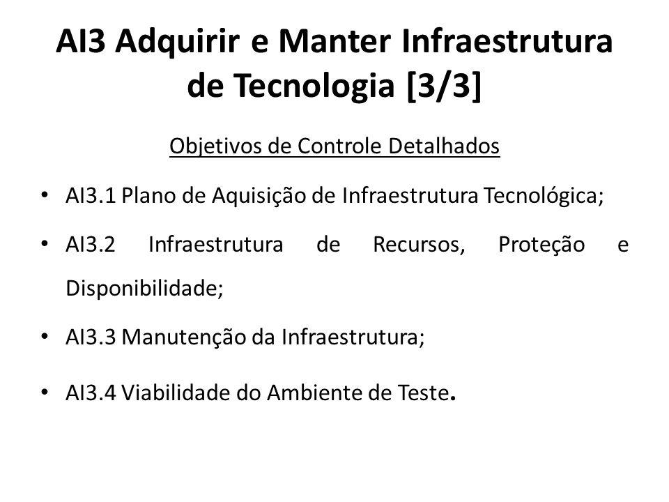 AI3 Adquirir e Manter Infraestrutura de Tecnologia [3/3]